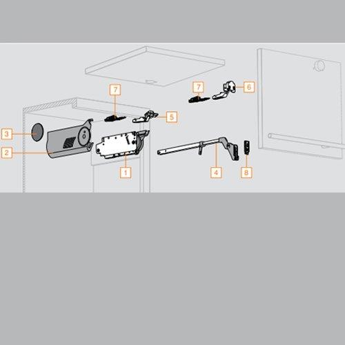 Blum Narrow Aluminum Door Hardware Set 78Z550ATA6