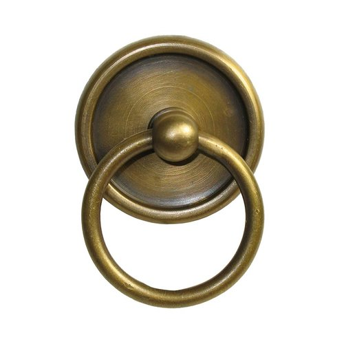 Gado Gado Ring Pulls 1-5/8 Inch Diameter Unlacquered Antique Brass Cabinet Ring Pull HRP1022
