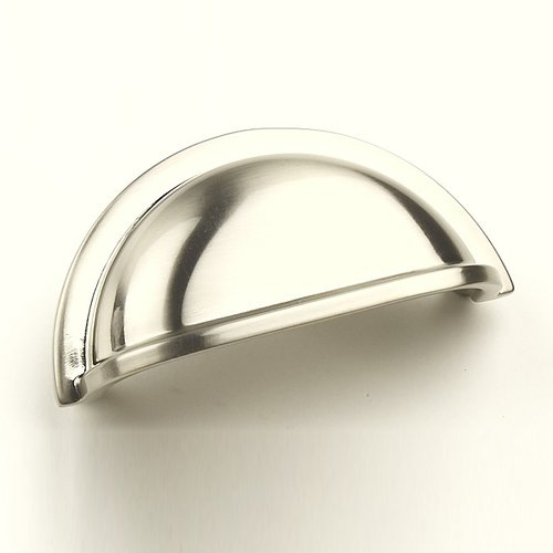 Milan 3 Inch Center to Center Satin Nickel Cabinet Cup Pull <small>(#28443-15)</small>