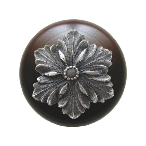 Notting Hill Classic 1-1/2 Inch Diameter Antique Pewter Cabinet Knob NHW-725W-AP