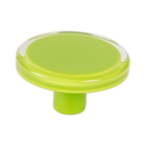 R. Christensen Next 2 Inch Diameter Lime Transparent Cabinet Knob 9783-7000-P