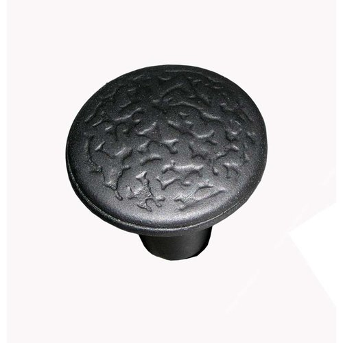 Acorn Manufacturing Rough Iron 1-3/8 Inch Diameter Black Iron Cabinet Knob RPGBP