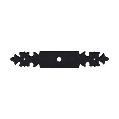 Top Knobs Normandy 6 Inch Length Patina Black Back-plate M701