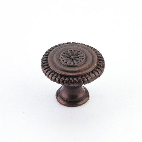 Schaub and Company Sonata 1-5/16 Inch Diameter Dark Antique Bronze Cabinet Knob 968M-DAB