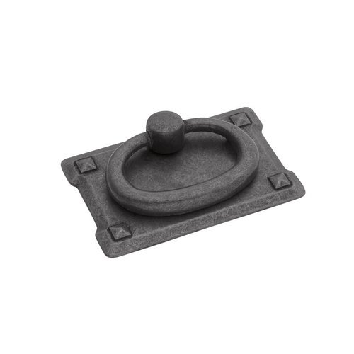 Hickory Hardware Old Mission Ring Pull 2-3/4 inch Center to Center Black Mist Antique PA0711-BMA