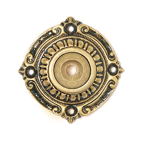 Notting Hill King's Road 1-1/2 Inch Diameter 24K Satin Gold Back-plate NHE-511-SG