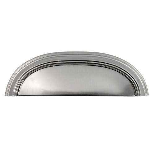 Hickory Hardware American Diner 3-3/4 Inch Center to Center Stainless Steel Cabinet Cup Pull P2144-SS