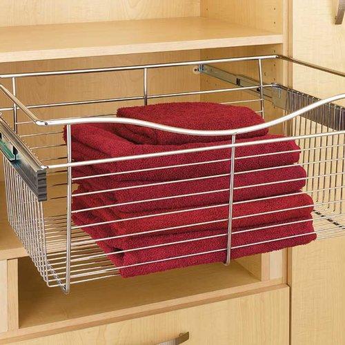 "Rev-A-Shelf Pullout Wire Basket 24"" W X 16"" D X 7"" H CB-241607CR"