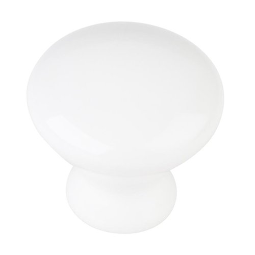 Elements by Hardware Resources Tempo 1-3/8 Inch Diameter White Ceramic Cabinet Knob 33856WH