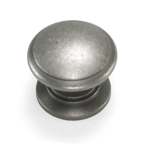 Nantucket 1-3/8 Inch Diameter Antique Pewter Cabinet Knob <small>(#51706)</small>