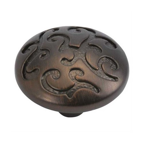 Hickory Hardware Mayfair 1-1/4 Inch Diameter Refined Bronze Cabinet Knob P3091-RB