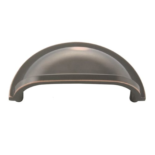 Hickory Hardware Williamsburg 3 Inch Center to Center Oil Rubbed Bronze Highlighted Cabinet Cup Pull P3055-OBH