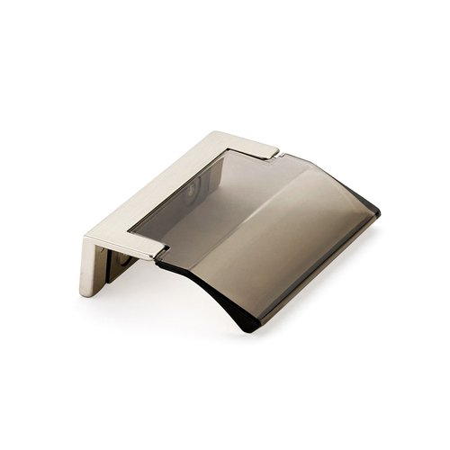 Positano Edge Pull 1-1/4 inch Center to Center Satin Nickel and Smoke <small>(#323-15-SM)</small>