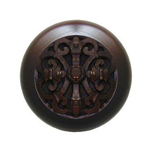 Notting Hill Olde World 1-1/2 Inch Diameter Dark Brass Cabinet Knob NHW-776W-DB