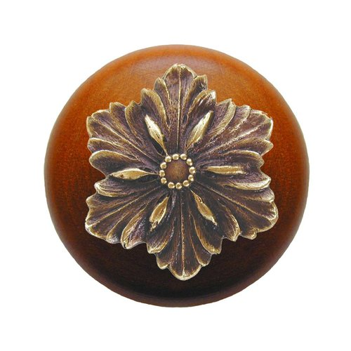 Notting Hill Classic 1-1/2 Inch Diameter Antique Brass Cabinet Knob NHW-725C-AB