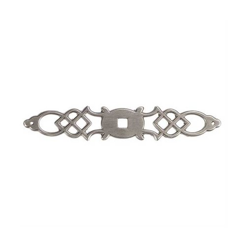 Hickory Hardware Manor House 5-1/2 Inch Length Silver Stone Back-plate P326-ST
