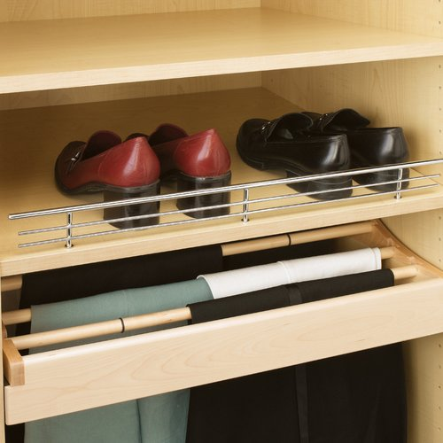 "Rev-A-Shelf 35"" Wire Shoe Rail Chrome Finish CSR-35CR-10"