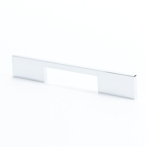 I-Spazio 5-1/16 Inch Center to Center Polished Chrome Cabinet Pull <small>(#9300-1026-C)</small>