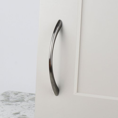 Century Hardware Metro 3-3/4 Inch Center to Center Brushed Black Nickel Cabinet Pull 28166-BNB