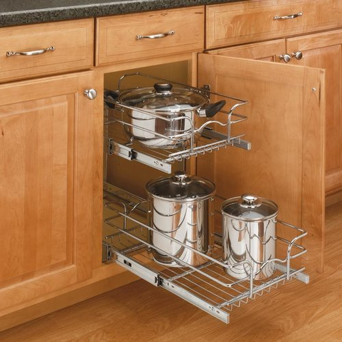 Rev-A-Shelf 21 inch Double Pull-Out Basket Chrome 5WB2-2122-CR
