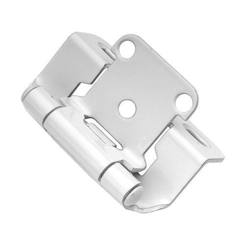 "Hickory Hardware Partial Wrap 1/2"" Overlay Hinge Pair White Powder Coat P2710F-W2"