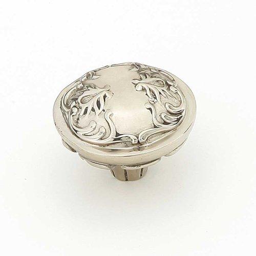 Schaub and Company Cantata 1-1/4 Inch Diameter White Brass Cabinet Knob 994-WB