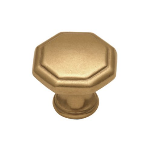 Hickory Hardware Conquest 1-1/8 Inch Diameter Lustre Brass Cabinet Knob P14004-LB