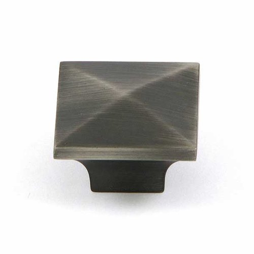 Milan 1-1/4 Inch Diameter Weathered Nickel Cabinet Knob <small>(#CP53082-WEN)</small>