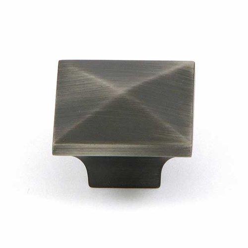Stone Mill Hardware Milan 1-1/4 Inch Diameter Weathered Nickel Cabinet Knob CP53082-WEN