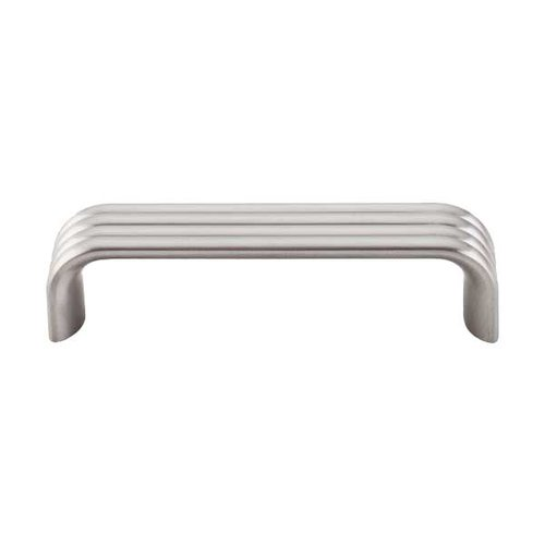 Top Knobs Sanctuary II 3-3/4 Inch Center to Center Brushed Satin Nickel Cabinet Pull TK262BSN