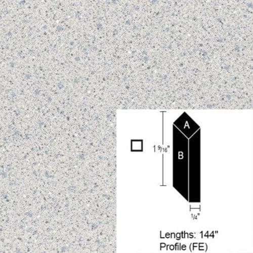 Wilsonart Bevel Edge - Grey Glace - 12 Ft CE-FE-144-4142-60