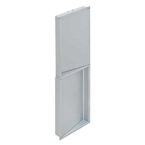 Hafele Bella Italiana 10-1/16 Inch Length Silver Aluminum Recess Pull 151.65.900