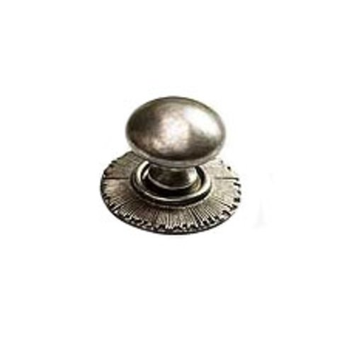 Schaub and Company Sunburst 1-1/4 Inch Diameter Silver Antique Cabinet Knob 970-SA