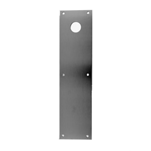 "Don-Jo 4"" X 16"" Push Plate With Hole Satin Stainless Steel CFK-71-630"