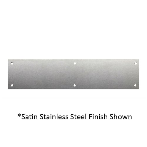 Don-Jo 3 inch x 15-1/2 inch Door Push Plate Satin Brass Blackened 70-609