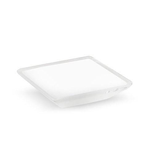 R. Christensen Core 5/8 Inch Center to Center White Transparent Cabinet Pull 9765-7000-P
