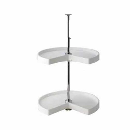 "Knape and Vogt 2 Shelf Kidney 28""- White PKN28ST-W"