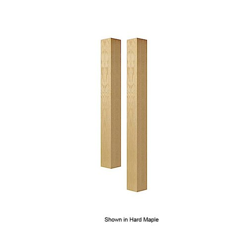 Brown Wood 5 inch Square Island Column Unfinished Red Oak 01625010AK1