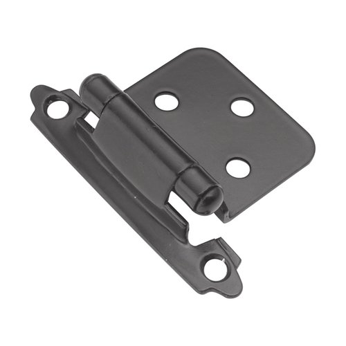 Hickory Hardware Variable Overlay Hinge Pair Black Self Close P144-BL