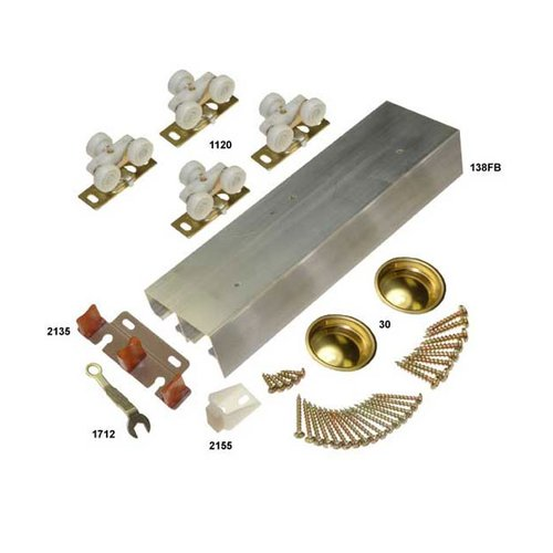 "Johnson Hardware 138F Series Bypass Track Set for 4 Doors 96"" 138F964D"