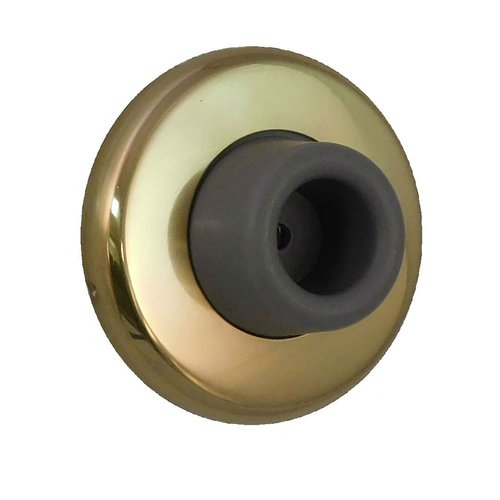 Don-Jo Concave Wrought Wall Bumper Polished Brass 1407-605