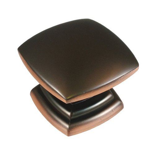 Hickory Hardware Euro-Contemporary 1-1/2 Inch Diameter Oil Rubbed Bronze Highlighted Cabinet Knob P2163-OBH