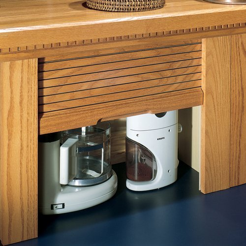 Omega National Products 24 inch Corner Appliance Garage - Red Oak AG-100CVR