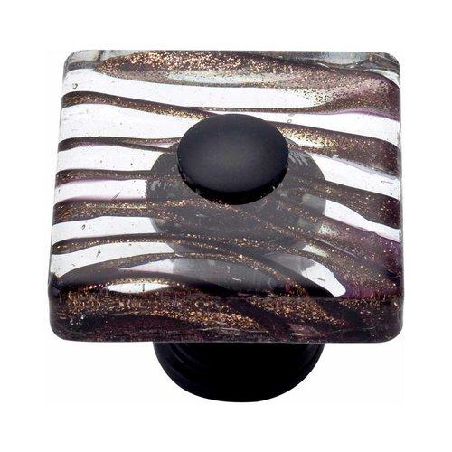 Atlas Homewares Glass 1-1/2 Inch Diameter Oil Rubbed Bronze Cabinet Knob 3205-O