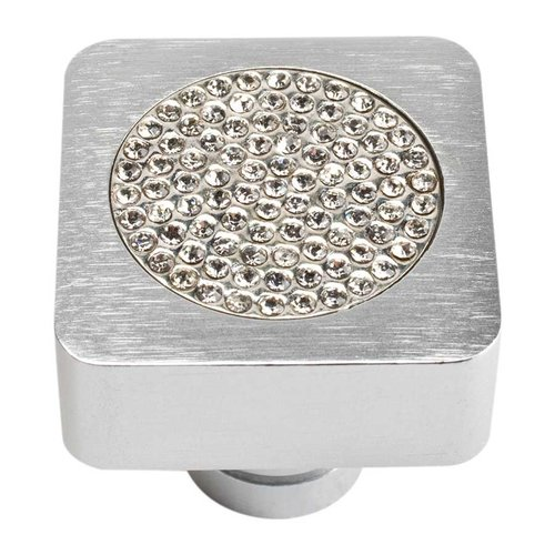 Atlas Homewares Boutique Crystal 1 Inch Diameter Matte Chrome Cabinet Knob 3193-MC
