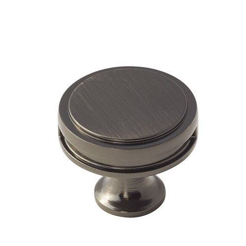 Amerock Oberon 1-3/8 Inch Diameter Gunmetal Cabinet Knob BP36603GM