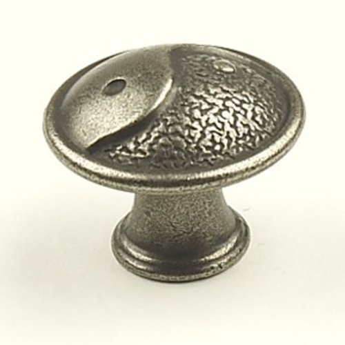 Dynasty 1-3/8 Inch Diameter Antique Pewter Cabinet Knob <small>(#27827-AP)</small>