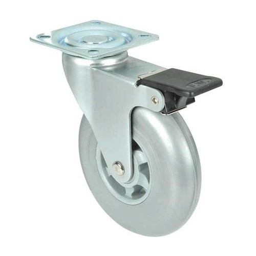 Richelieu Industrial Caster with Swivel and Brake - Grey 91016020502