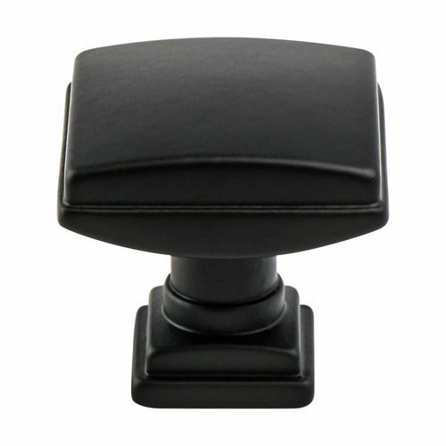 Berenson Tailored Traditional Knob 1-1/4 inch Diameter Matte Black 1275-1055-P