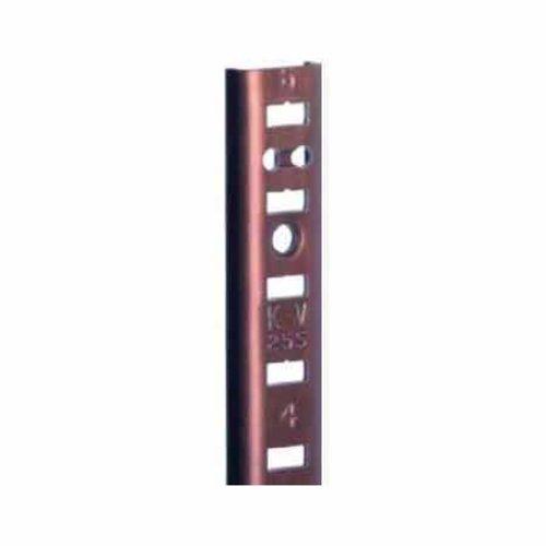 """Knape and Vogt KV #255 Aluminum Pilaster Strip Walnut 30"""" 255AL WAL 30"""